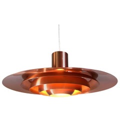 Giant Copper Ceiling Light P700 by Kastholm & Fabricius for Nordisk Solar 1964