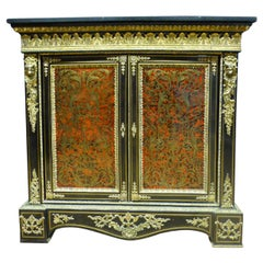 """19th Century Napoleon III """"Boulle"""" Marquetry and Marble-Top Sideboard, 1850s"""