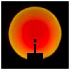 Halo Up Floor Lamp in Black by Mandalaki