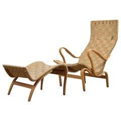 'Pernilla' lounge chair by Bruno Mathsson for Karl Mathsson, Sweden 1950's