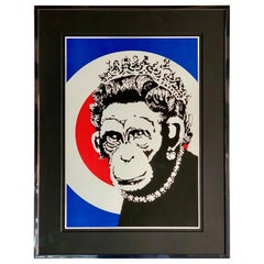 Banksy Monkey Queen, 2003 unsigned
