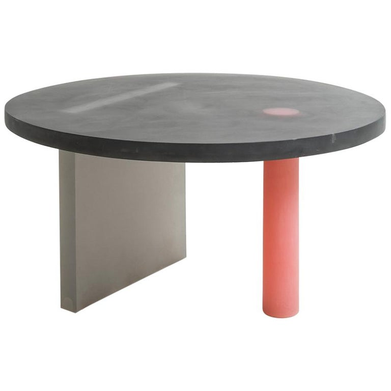 Haze Low Table in Black and Red Resin by Wonmin Park For Sale