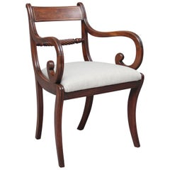 Early 19th Century Mahogany Rope Back Armchair