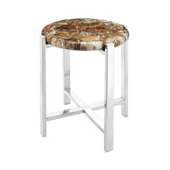 Petrified Top Side Table