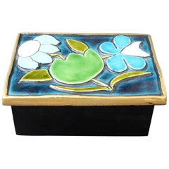 Jewellery Box with Decorative Ceramic Lid by François Lembo 'circa 1960s'