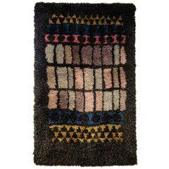 Wall or Floor midcentury blanket `Vindu`- Arne Lindås 1959, Norway