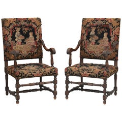 Antique French Pair of Armchairs from the Late 1800s