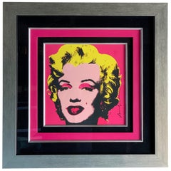 Andy Warhol Marilyn Monroe Offset Lithograph Original Hand Signed