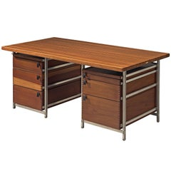 Jules Wabbes Foncolin Desk in Mutenyé Wood