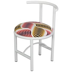 Diner Chair Metal with Colorful Textile Contemporary Style