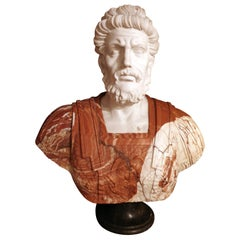 Classicism Bust of a Greek or Roman Philosopher, Mid-20th Century