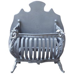 Large Dutch Art Nouveau Fireplace Grate, Fire Grate