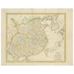 Antique Map of China by Wilkinson '1803'