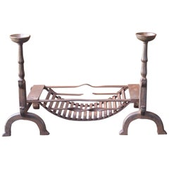 19th Century English Victorian Fireplace Grate or Fire Grate