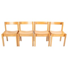 Set of Four Modernist English 1960s Bent Ply and Beech Chairs