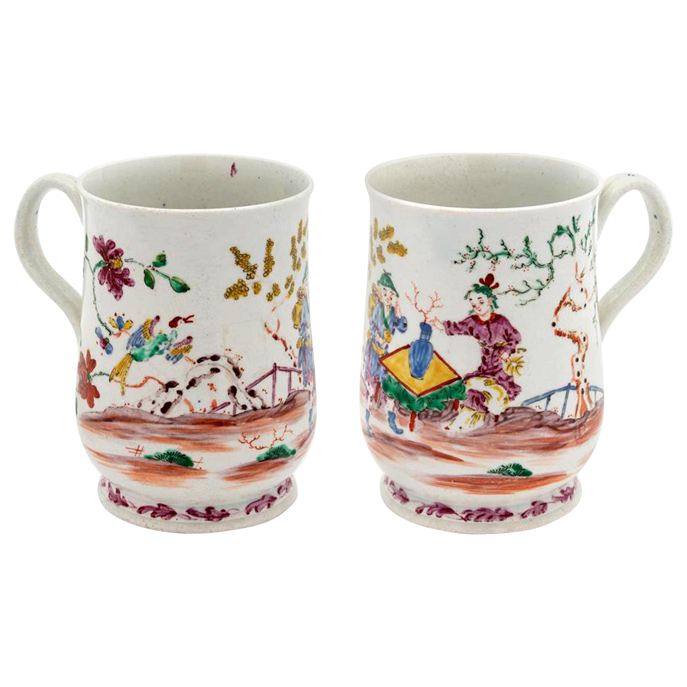 Bow Porcelain Chinoiserie Tankard, Bow, London, 1760-1765