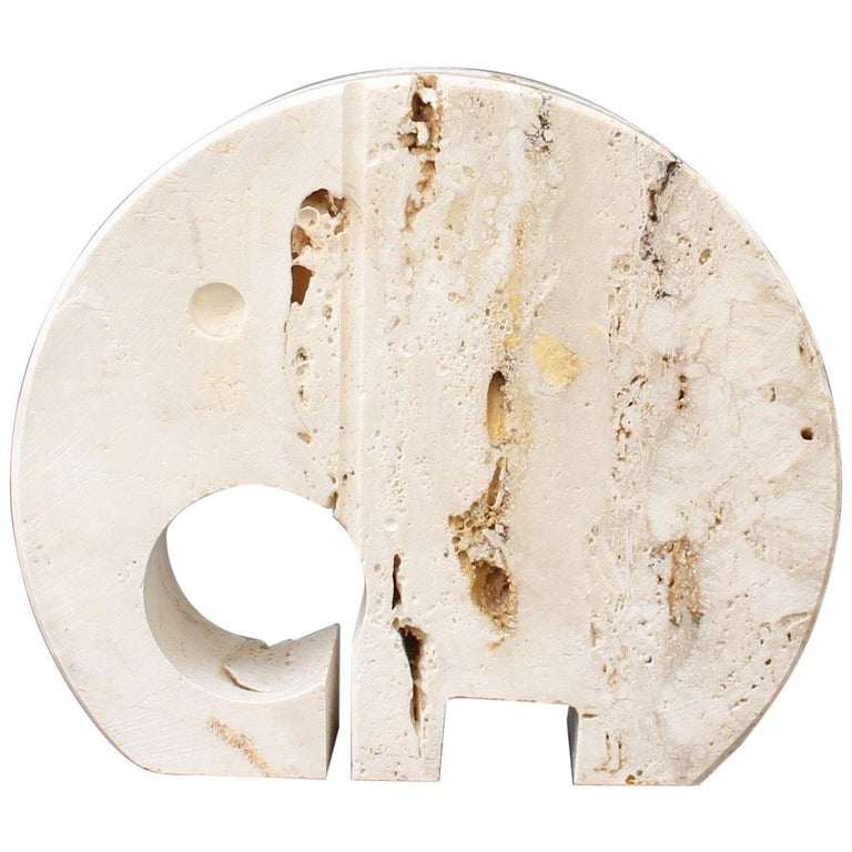 Stylised Travertine Elephant Envelope Holder by Mannelli Brothers 'circa 1970s' For Sale