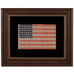 38 Star Antique American Parade Flag with Scattered Star Positioning