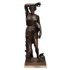 Large French Mid-19th Century Bronze Classical Figure, circa 1850