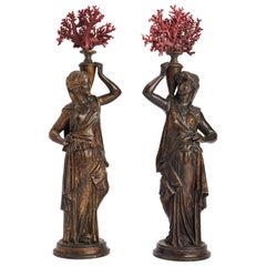 19th Century Grand Tour Neoclassical Pair of Bronze Sculptures