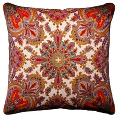 'Vintage Cushions' Luxury Bespoke-Made Silk Pillow 'Langdon'. Made in London