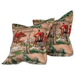 Vintage Cushions Luxury Bespoke Made Pillow 'the Sanderson Hunt' Made in London
