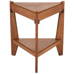 Dutch Oak Art Deco Haagse School Triangular Coffee Table by Anton Lucas, 1920s