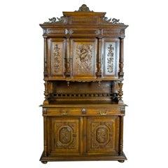 19th Century Neo-Renaissance Oak Buffet