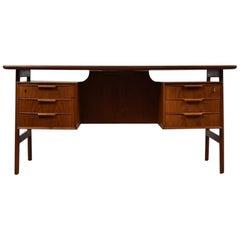 Model 75 Desk Designed by Gunni Omann for Omann Jun Mobelfabrik, Denmark, 1960s