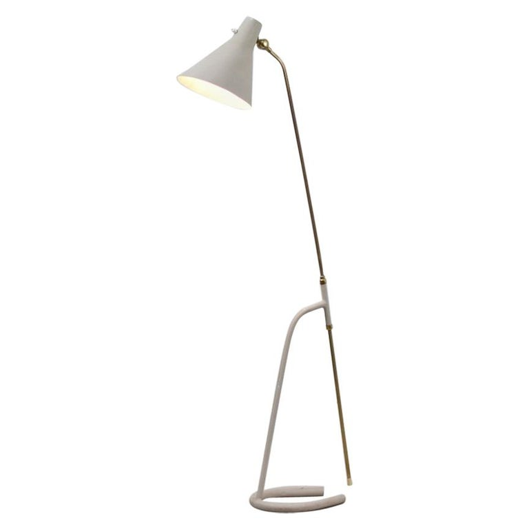 Floor Lamp by Hans Bergström for Ateljé Lyktan, Sweden, 1950 For Sale