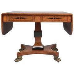 Early 19th Century Pollard Oak Sofa Table
