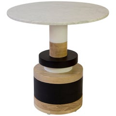 Customizable Sass Cafe Table from Souda, Small, White Marble Top