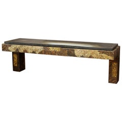 Paul Evans for Directional Modern Patchwork Wall-Mounted Console