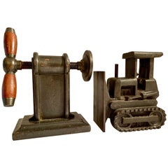 Pair of Iron Industrial Bookends