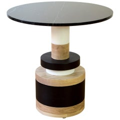 Customizable Sass Cafe Table from Souda, Small, Black Marble Top, Made to Order