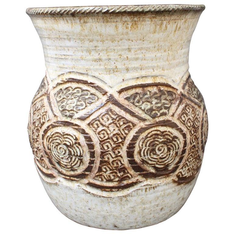 Ceramic Decorative Vase by Marcel Giraud, Vallauris, 'circa 1960s' For Sale