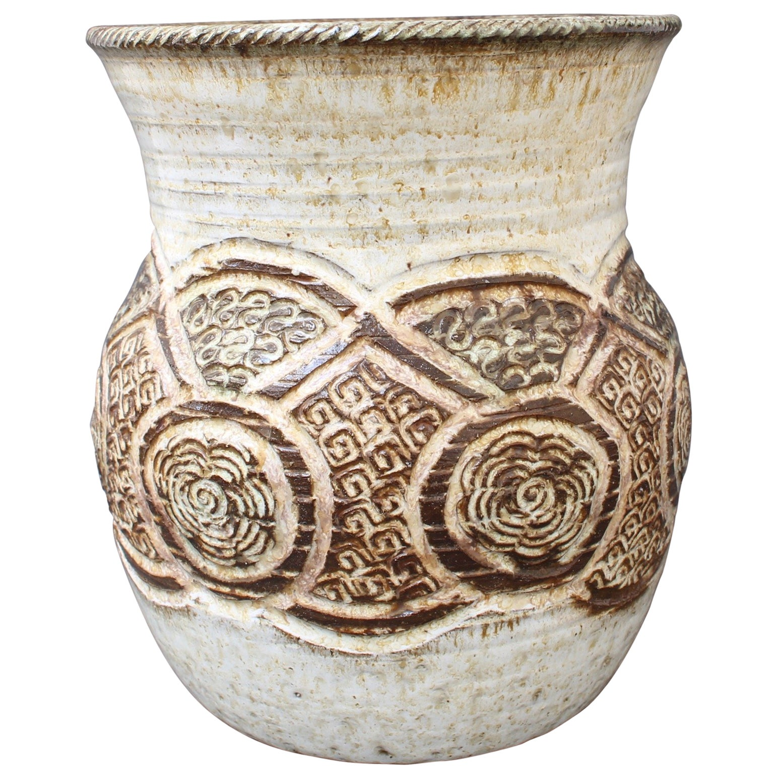 Ceramic Decorative Vase by Marcel Giraud, Vallauris, 'circa 1960s'