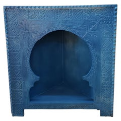 Moroccan Carved Wooden Corner Unit Cabinet, 23MO60