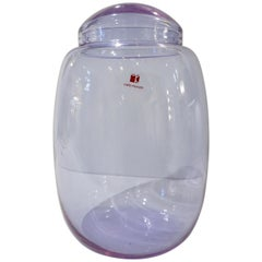 Vintage Carlo Moretti 1980s Alexandrite Purple Blue Murano Crystal Glass Vase