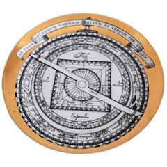 Piero Fornasetti Astrolabio Signed Porcelain Plate No. 6, Christmas, 1970