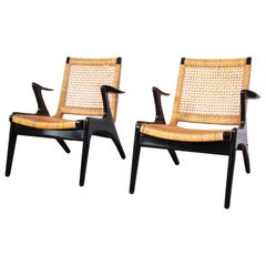 Kurt Østervig Danish Modern Lounge Chairs, Pair