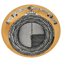 Piero Fornasetti Astrolabio Signed Porcelain Plate No. 5, Christmas, 1969