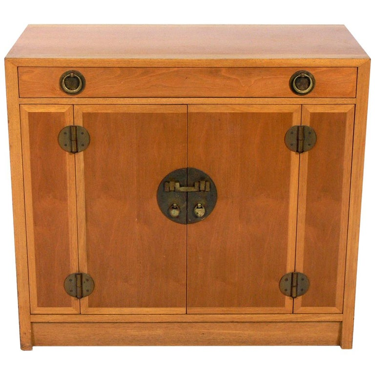 Asian Influenced Credenza or Cabinet by Dunbar For Sale