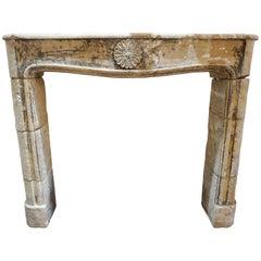 18th Century Limestone Mantel