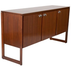 Mahogany and Aluminum Cabinet Designed by Jens Risom Designs Inc