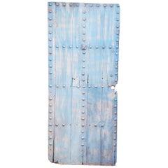 Single Panel Moroccan Wooden Door, Light Blue 23MO16