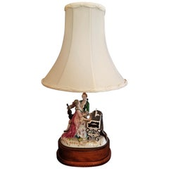 19th Century Dresden Porcelain Style Table Lamp