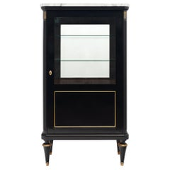 French Ebonized Louis XVI Style Bookcase
