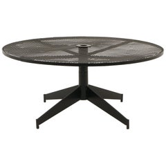 John Salterini Outdoor Coffee Table, Professionally Powder Coated, Satin Black