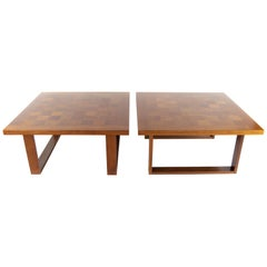 """Pair of """"Boogie Woogie"""" Coffe Tables in Teak by Poul Cadovius for Cado, Denmark"""